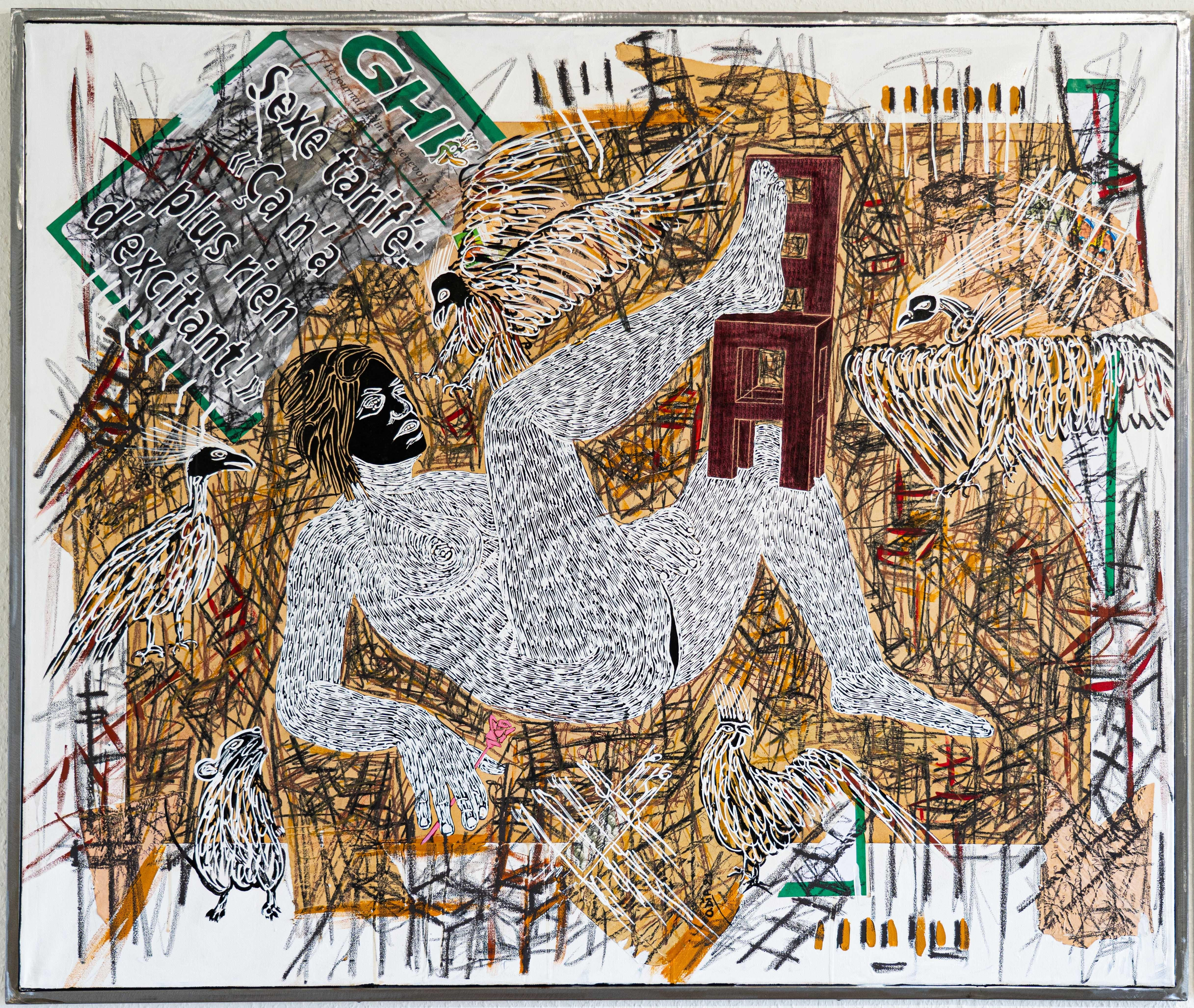 African Contemporary Art - Dame Justice III