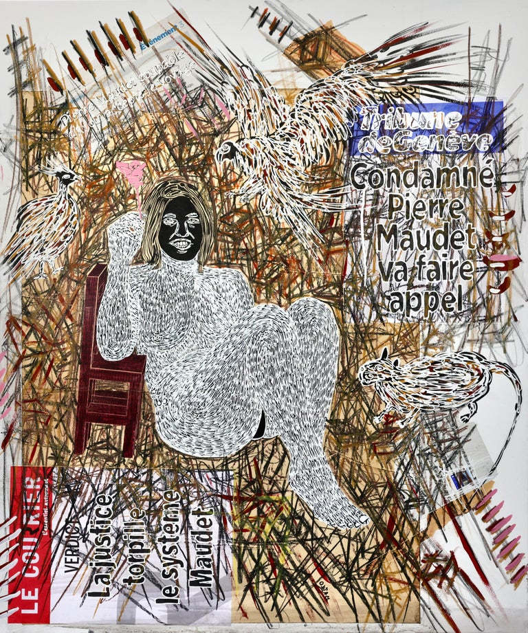 African Contemporary Art - Dame Justice V - Painting by Ousmane Dia