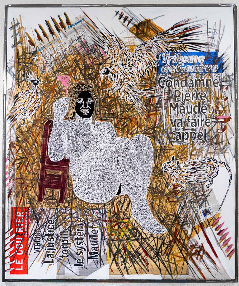 Ousmane Dia Nude Painting - African Contemporary Art - Dame Justice V