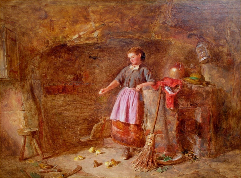 Feeding the New Brood - Painting by Alfred Provis