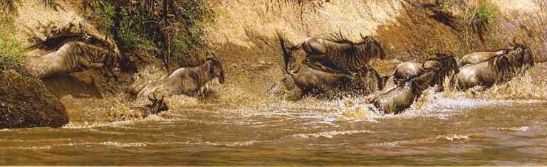 Wildebeest - Painting by Tony Karpinski