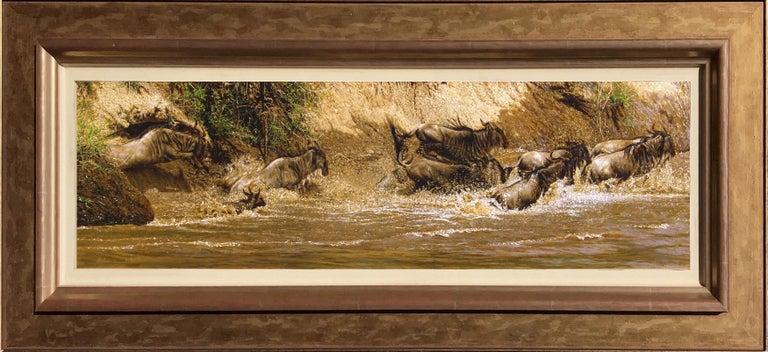 Tony Karpinski Animal Painting - Wildebeest