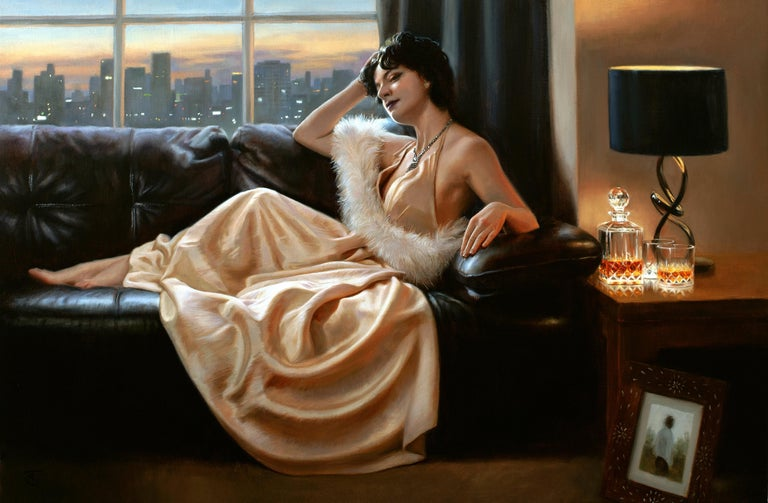 Maybe - Painting by Tina Spratt