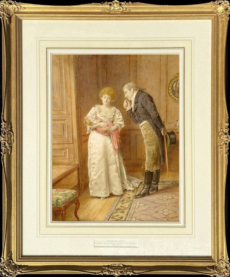 George Goodwin Kilburne Interior Art - The New Arrival
