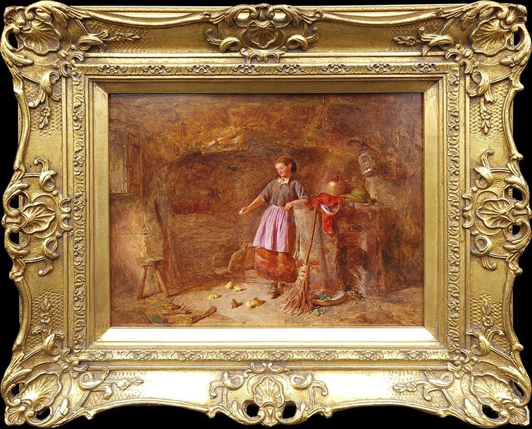 Alfred Provis Interior Painting - Feeding the New Brood