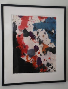 Taro Yamamoto, Colorful Abstract Watercolor on Paper