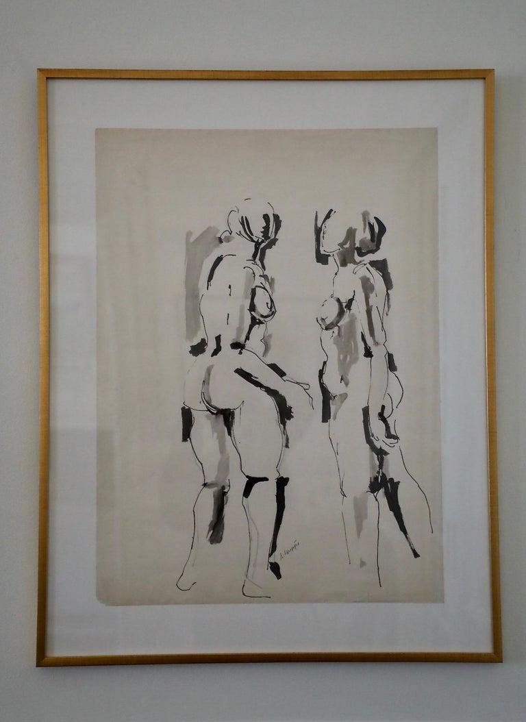 Salvatore Grippi, Figurative Ink and Wash on Paper - Art by Salvatore Grippi