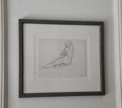 Untitled Drawing of a Reclining Woman