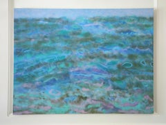 "Abstract Oil on Canvas, ""Towards the Shore"" (Florida Keys)"
