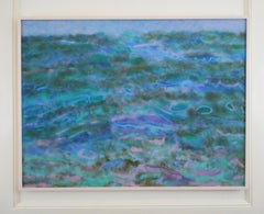 "Abstract Oil on Canvas, ""Towards the Shore"" (Florida Keys)"