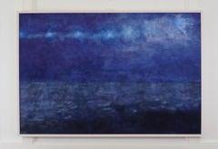 """Abstract Oil on Canvas, """"Skylight"""" (Florida Keys)"""
