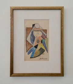 Cubist Figural Work on Paper