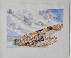 Watercolor and Pencil Landscape