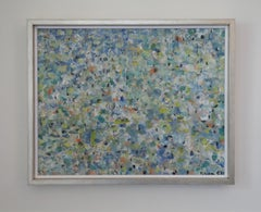 California Mid Century Abstract Expressionist Oil on Canvas