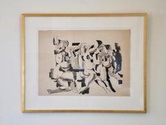 Salvatore Grippi, Figural Mixed Media on Paper