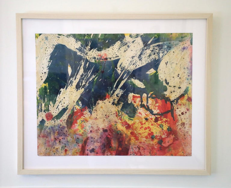 Taro Yamamoto Abstract Drawing - Colorful Abstract Mixed Media on Paper