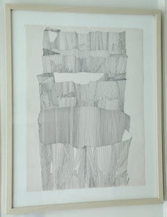 Salvatore Grippi, Ink and Pencil Drawing, Paper Bags