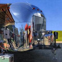 "Leah Giberson ""Palm Springs Safari"" Realism Airstream Trailer Aluminum Vintage"