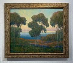 "William Dorsey ""Coastal Eucalyptus"" Oil Landscape California Plein Air Framed"