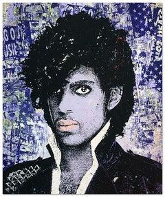 Prince (Purple), Greg Gossel Pop Art Musician Music Collage Purple