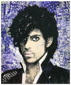 Prince (Tan), Greg Gossel Pop Art Musician Music Collage Purple