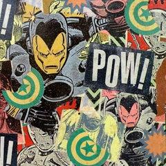 Vanished! , Greg Gossel Art SuperHero Comics Collage Iron Man Princess Diana