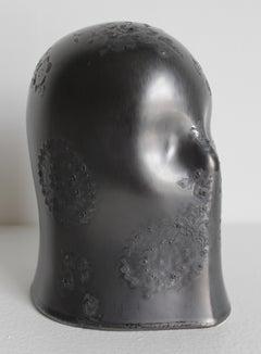 """Wild Silver Veil"", Chloe Rizzo Sculpture Porcelain Glaze Silver Gray Female"