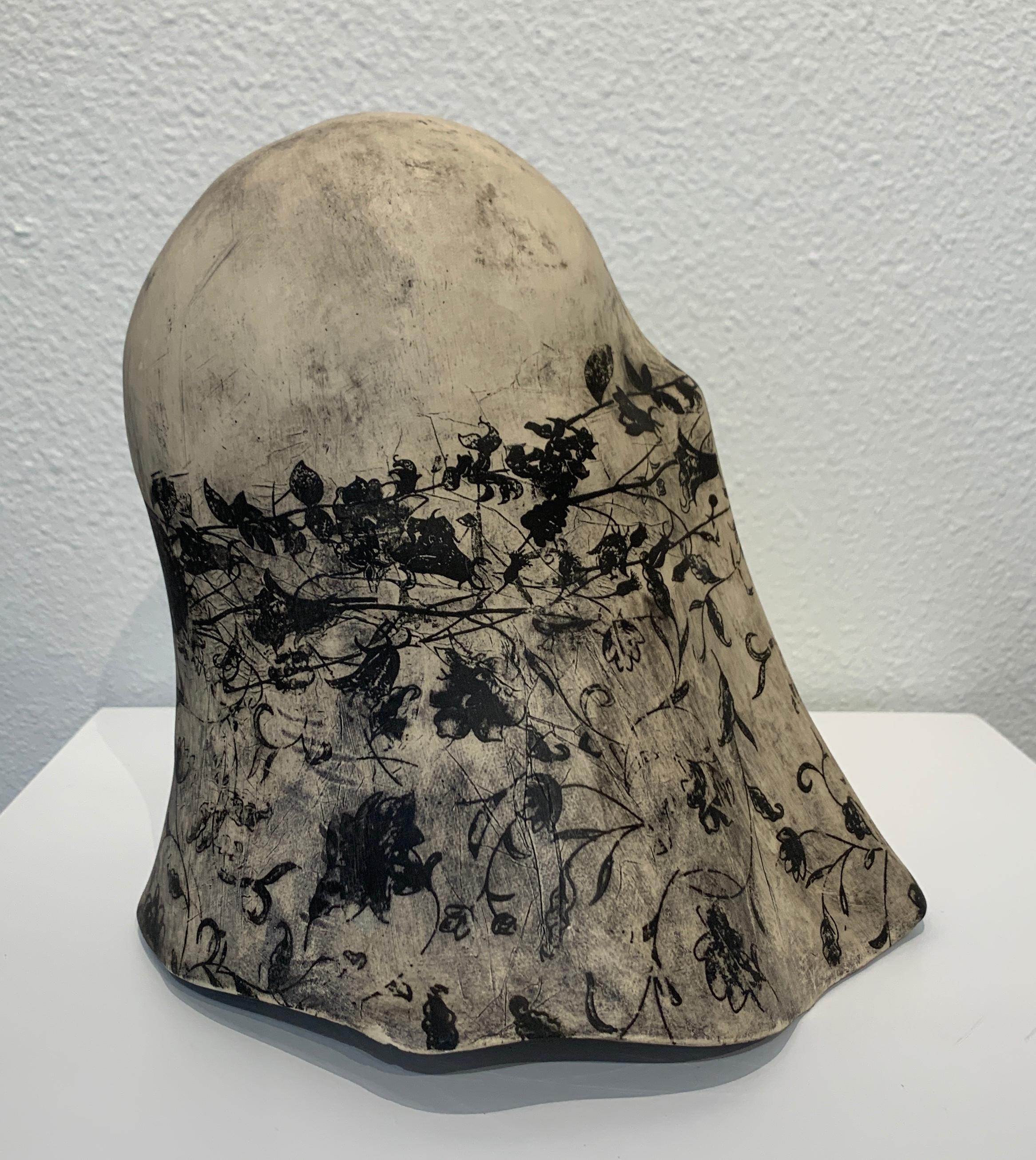 """Black and Ivory Veil"", Chloe Rizzo Ceramic Glaze Black Ivory Female"