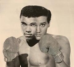 """House of Orion """"The Greatest Silver-Rainbow, AP"""" Elvis Mohammed Ali Boxing Glove"""