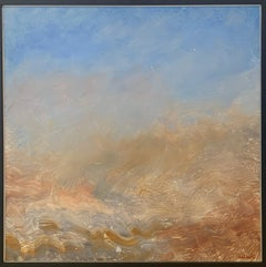 """Reginald Pollack """"Mist in the Desert"""" Abstract Expressionist Oil on Masonite"""