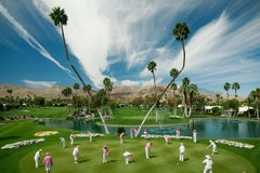 "James Schnepf ""Marrakesh Putters"" Modernism Photograph Palm Springs Golf Pink"