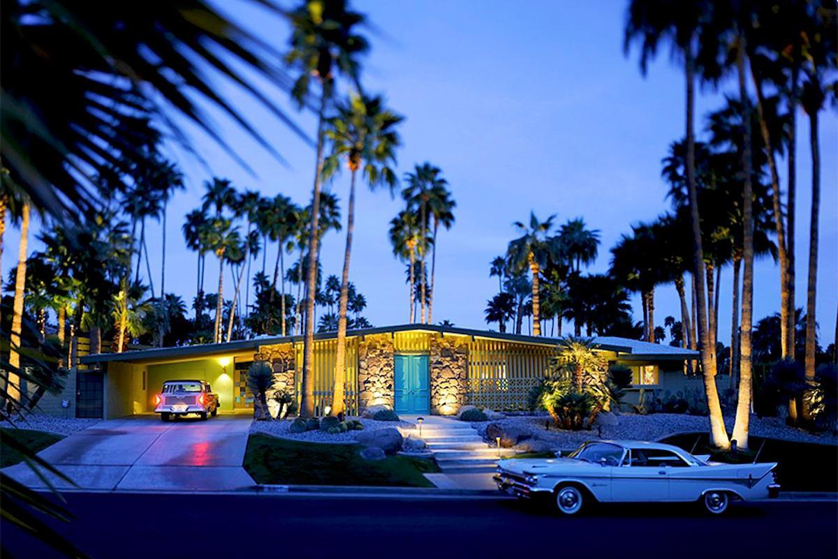 """Vista Las Palmas at Dusk"" James Schnepf Modernism Photograph Palm Springs"