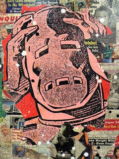 Stop This!, Greg Gossel Pop Art Comic Book Collage Super Hero Ironman