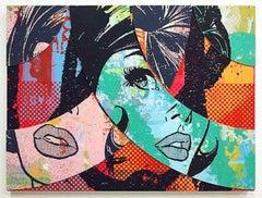 Hello & Goodbye #6, Greg Gossel Pop Art Comic Street Art Female 1950's