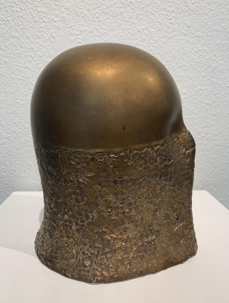 Bronze Fabric Veil, Chloe Rizzo Sculpture Porcelain Glaze Metallic Gold Female For Sale 2