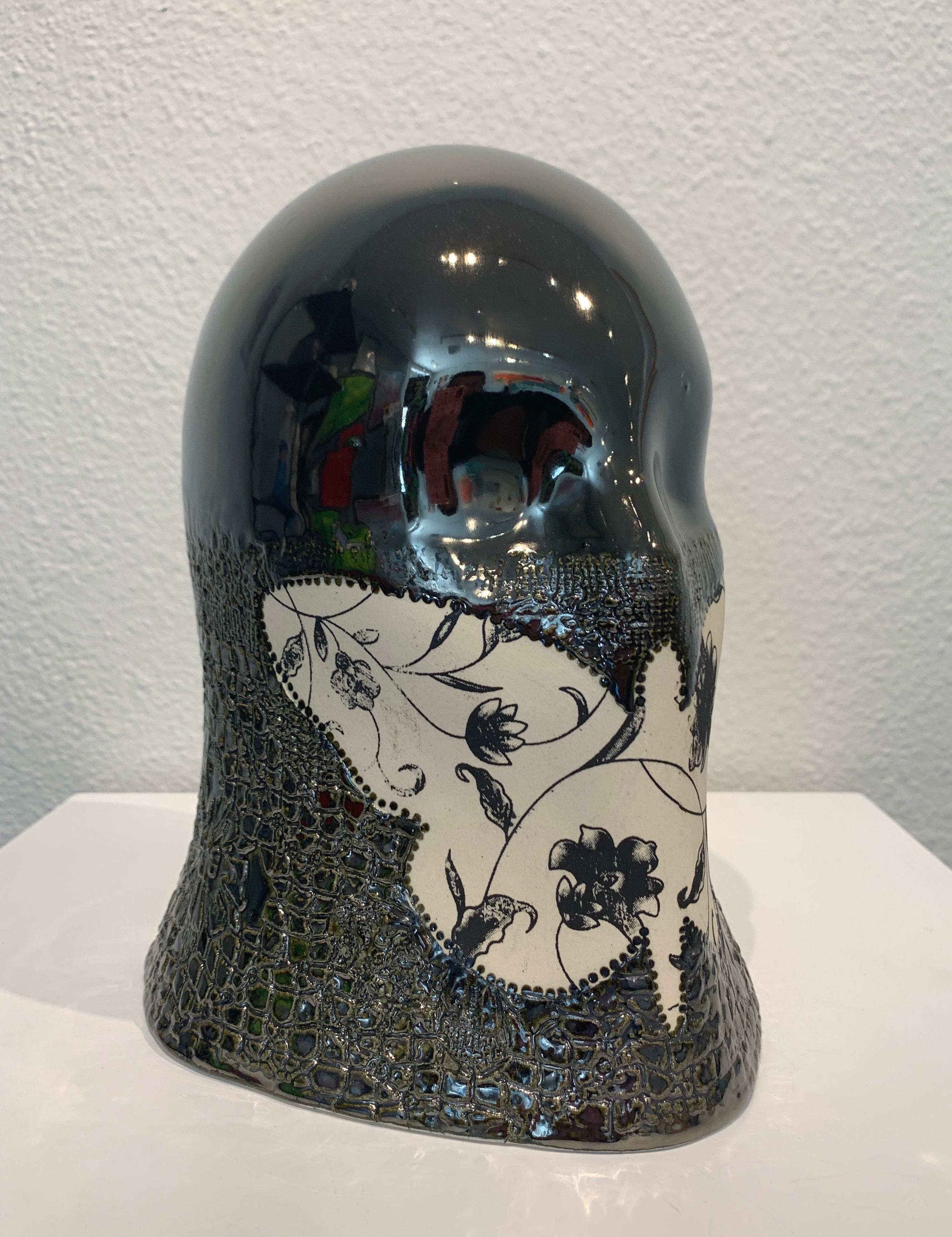 """Silver Veil"", Chloe Rizzo Sculpture Porcelain Butterfly Silver Metallic Female"