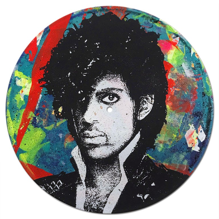 Prince Vinyl 1-7, Greg Gossel Pop Art LP Record Music (Singles & Sets Available) - Painting by Greg Gossel