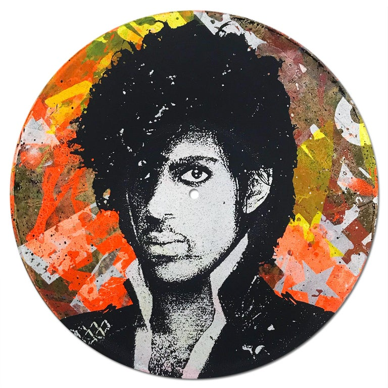 Prince Vinyl 1-7, Greg Gossel Pop Art LP Record Music (Singles & Sets Available) For Sale 2