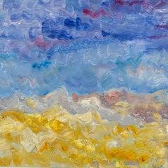 Palm Desert December 99, Reginald Pollack Abstract Expressionist Oil on Masonite