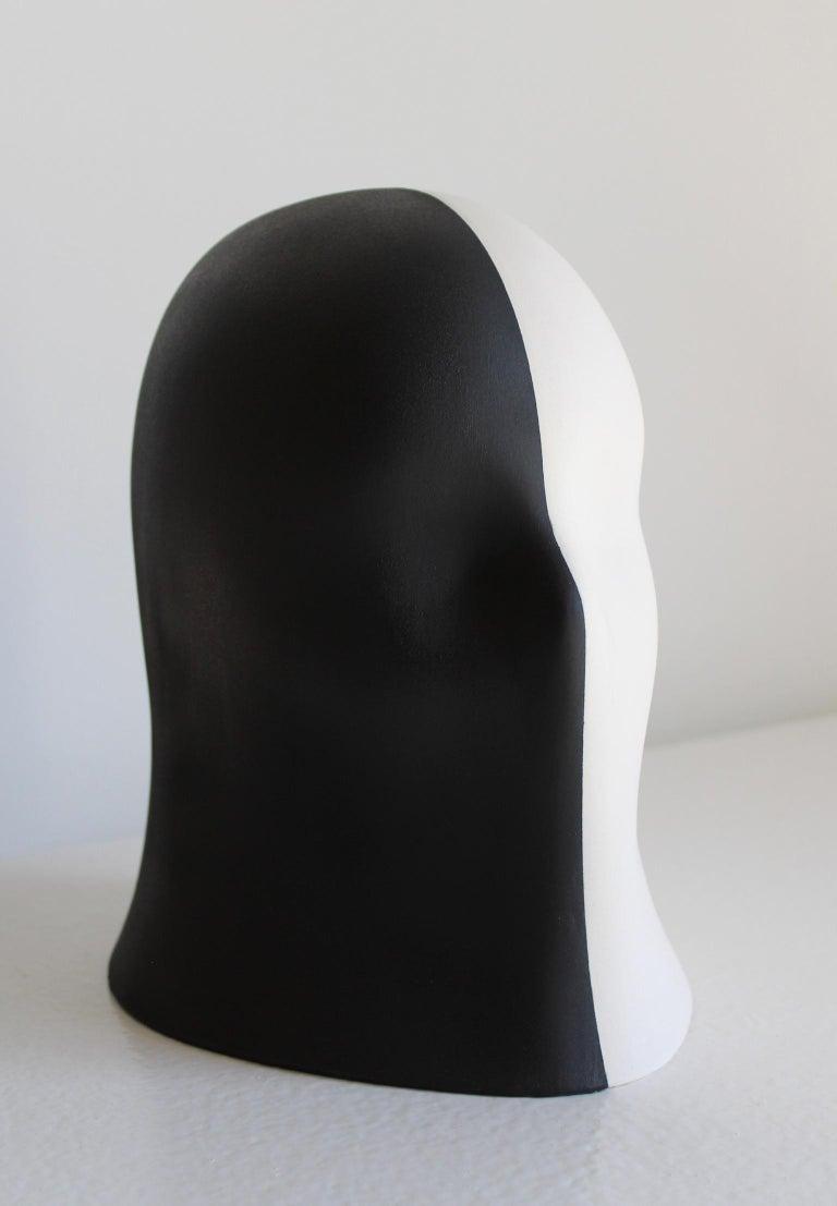 Black/White Veil, Chloe Rizzo Sculpture Porcelain Female Head For Sale 3
