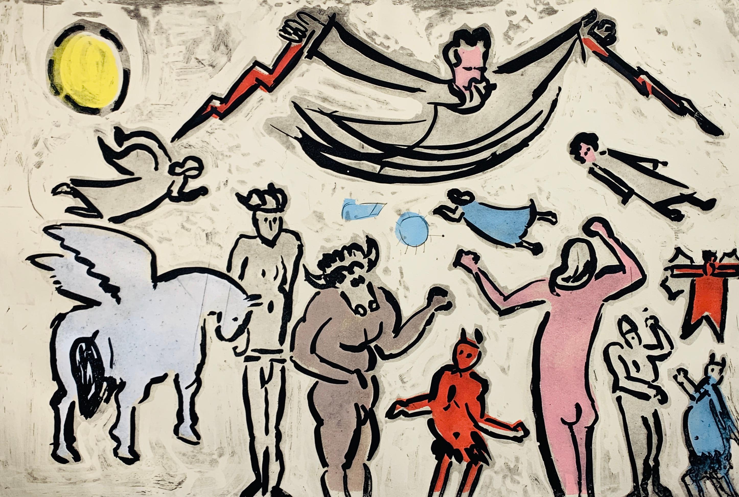 Zeus and Family, by Malcolm Myers Intaglio Mythology Series Devil Minotaur Gods