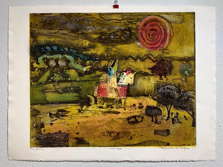 The Journey Ed II, by Malcolm Myers Intaglio Knight Series Gold Don Quixote For Sale 2