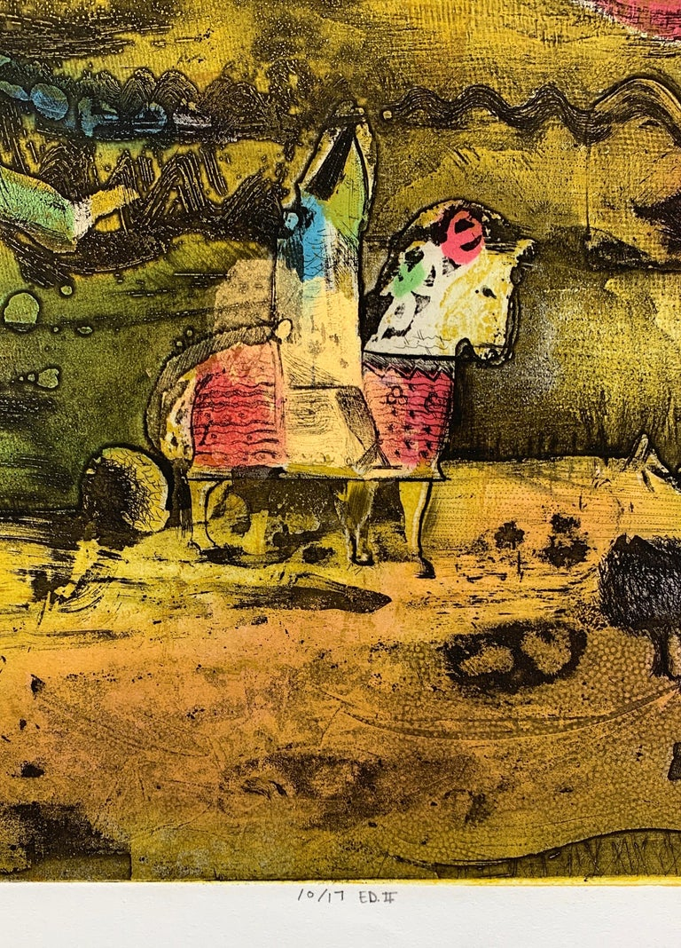 The Journey Ed II, by Malcolm Myers Intaglio Knight Series Gold Don Quixote For Sale 4
