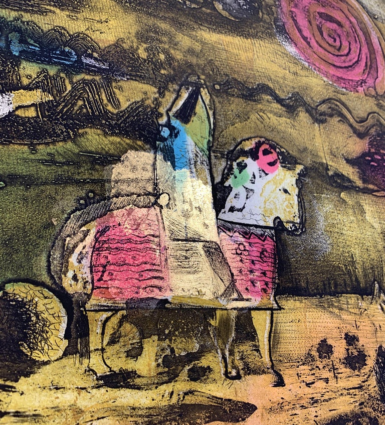 The Journey Ed II, by Malcolm Myers Intaglio Knight Series Gold Don Quixote For Sale 7