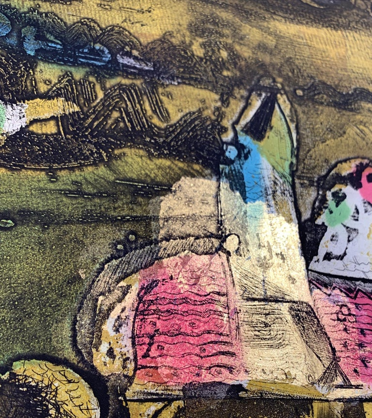 The Journey Ed II, by Malcolm Myers Intaglio Knight Series Gold Don Quixote For Sale 8