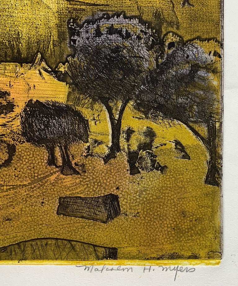 The Journey Ed II, by Malcolm Myers Intaglio Knight Series Gold Don Quixote For Sale 5