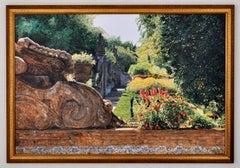 """""""Jardim Bischainhos"""" Landscape Painting by Pacific Nothwest Artist Tom Fawkes"""