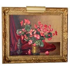 Antique Dutch Oil on Canvas Still Life Johannes Baptist Nicolaas van Gent 1920