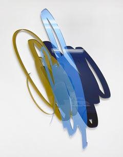 Triple Scribble Blue Gold