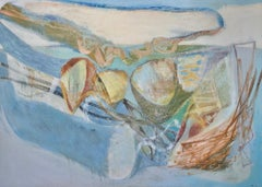 Peter Joyce, Blue Landscape. Abstract painting, large scale, France, England